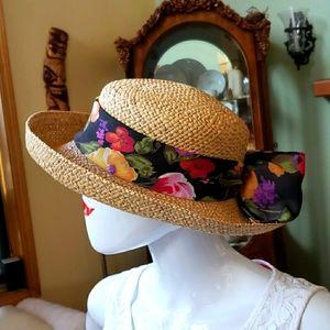 Deborah Rhodes-mocha-fashion straw hat